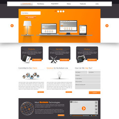 Website Template. Eps 10 Vector illustration,