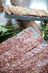 delicious salami ham for dining