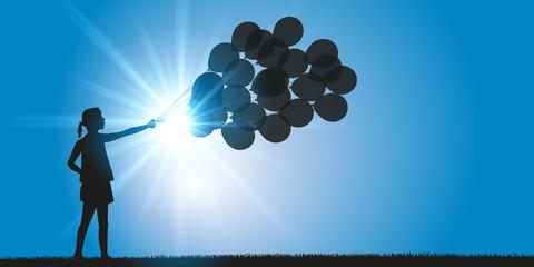 Fille Ballons de Baudruche