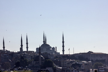 Panoramic view mosque, Istambul, Turkey