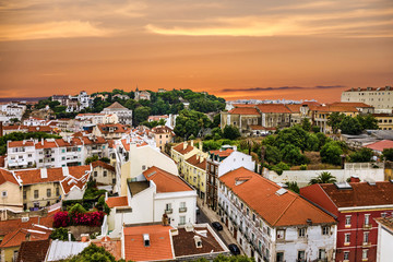 Lisbon old city view, Portugal