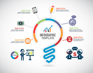 Business infographic template and icon.