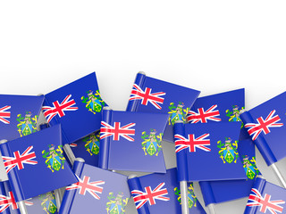 Flag pin of pitcairn islands