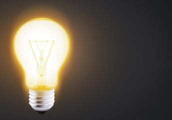 yellow warm light bulb
