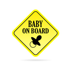 baby on board rhombus vector