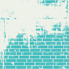 Plastered brick wall. Grunge background