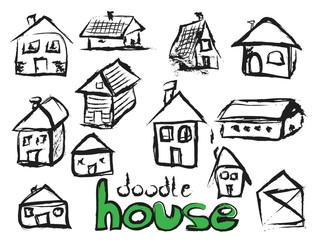 set sketch houses,  design element