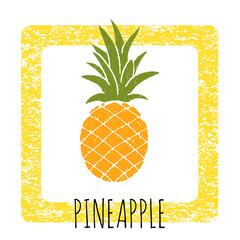 Icon pineapple cute hand-drawn.
