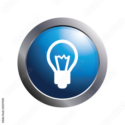 """Blue button - Bulb icon"" Stock image and royalty-free ..."