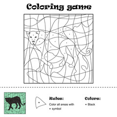 Hidden picture - Coloring Page, Panter