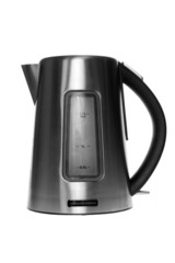 Modern metal Kettle on a white background