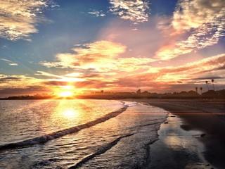 Awesome Sunset in Santa Barbara CA
