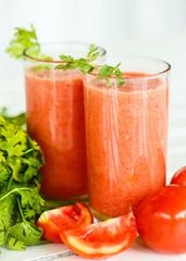 Fresh Tomato with fresh herbs
