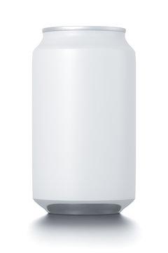 Aluminum white can