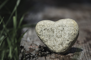 Stone heart shape