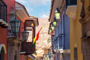 Fototapete - Jaen Street in La Paz, Bolivia