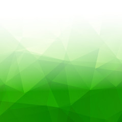 Abstract Triangle Geometrical green Background. Vector