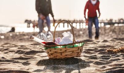 Autocollant pour porte Pique-nique picnic on the beach