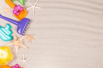 Summer children's sand cake, Summer concept