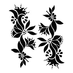 Floral pattern. Vector art