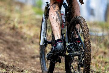 Wheel dirt bike after the race