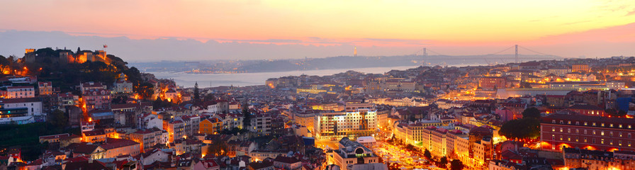 Fototapete - Lisbon beautiful panorama