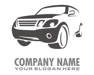 silhouette gray car logo image vector