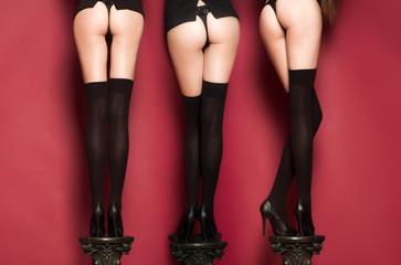 Triple long slender female legs