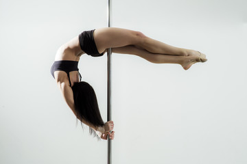 Girl on the pole Wall mural