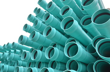 pvc pipes isolated