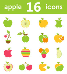 Vector Set Symbols of Apples