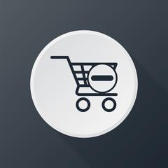icon shopping cart delete