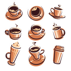 Coffee set. Vector