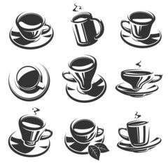 Tea set. Vector