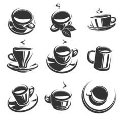 Tea set. Vector