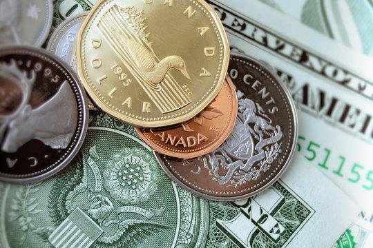 US Dollar and Canadian Dollar