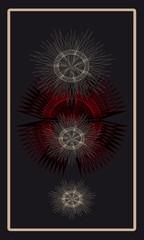 Tarot cards - back design, Stars