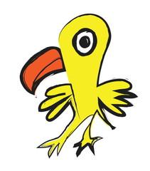 doodle little parrot