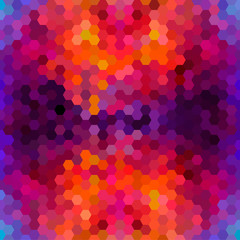 Abstract colorful honeycomb pattern background