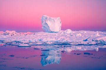Papiers peints Rose banbon Antarctic Glacier