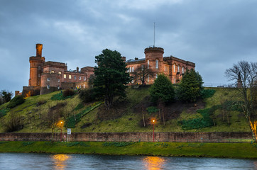 Inverness Castle on A Cloudy Winter Night