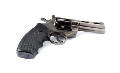 toy gun 357 magnum revolver on white background