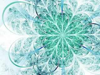 Colorful lacy pattern, digital artwork