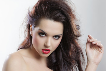 Portrait of a beautiful seductive girl