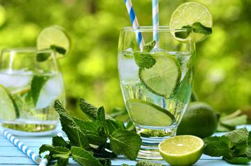Summer lemonade mojito.
