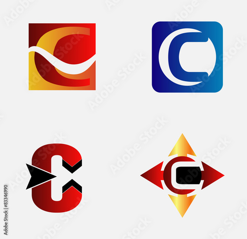 Letter c logo design sample set stock image and royalty free letter c logo design sample set spiritdancerdesigns Gallery