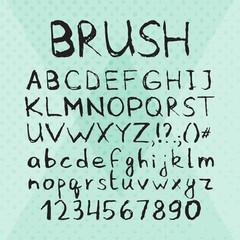 Ink Pen Brush Hand Drawn Font
