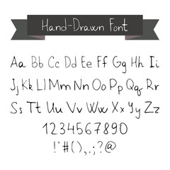 Thin Ink Black Pen Hand Drawn Font