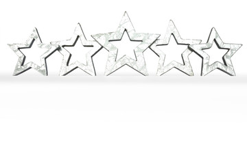 5 stars isolated copy space