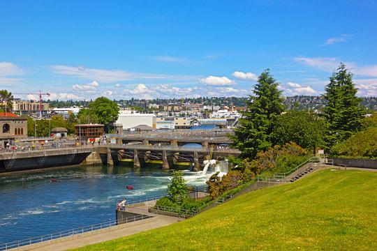 Ballard Locks in Seattle, USA